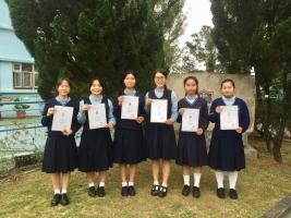 左起:詹巧婷、鄺韵妍、溫美詩、曾美玲、黃安娜、郭紀琳